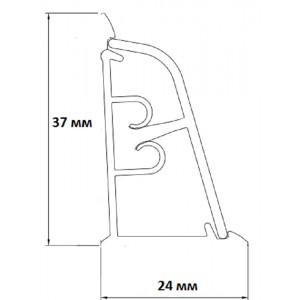 Плинтус для столешниц Korner LB-37 Чёрное серебро