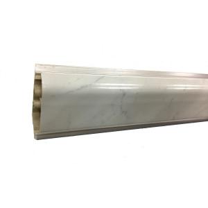Плинтус для столешниц Korner LB-37 Мрамор белый