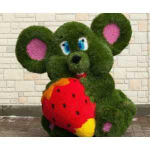 Топиари из искусственной травы Мышь