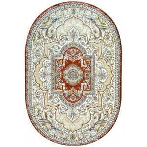 Ковер Бал Текстиль Persia Q555A Cream/Red овал